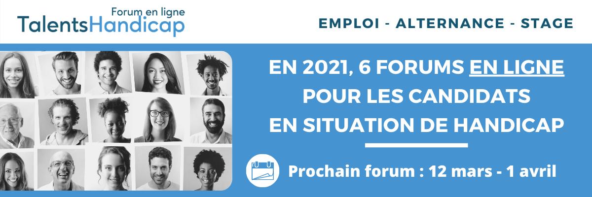 En 2021, 6 forums en ligne pour les candidats en situation de handicpa